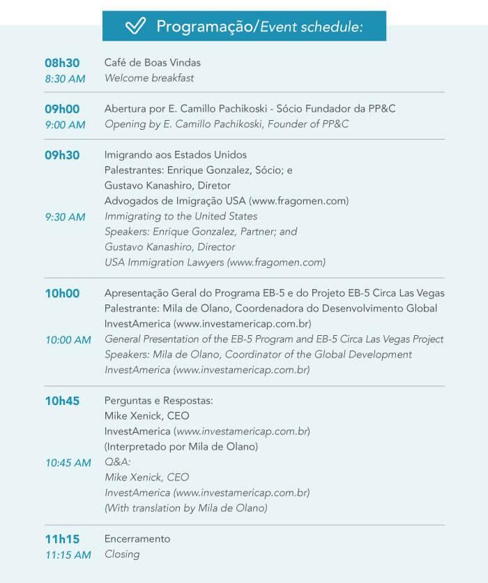 Brazil - Programação - Event Schedule
